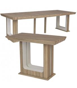 Console Table extensible 250cm Bois Foncé Hully -