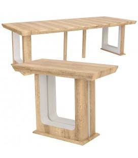 Table en bois extensible 250cm Bois effet Vieilli Hully -