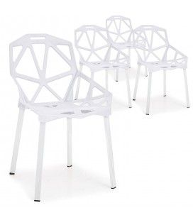 Chaise design Blanche Spider - Lot de 4 -
