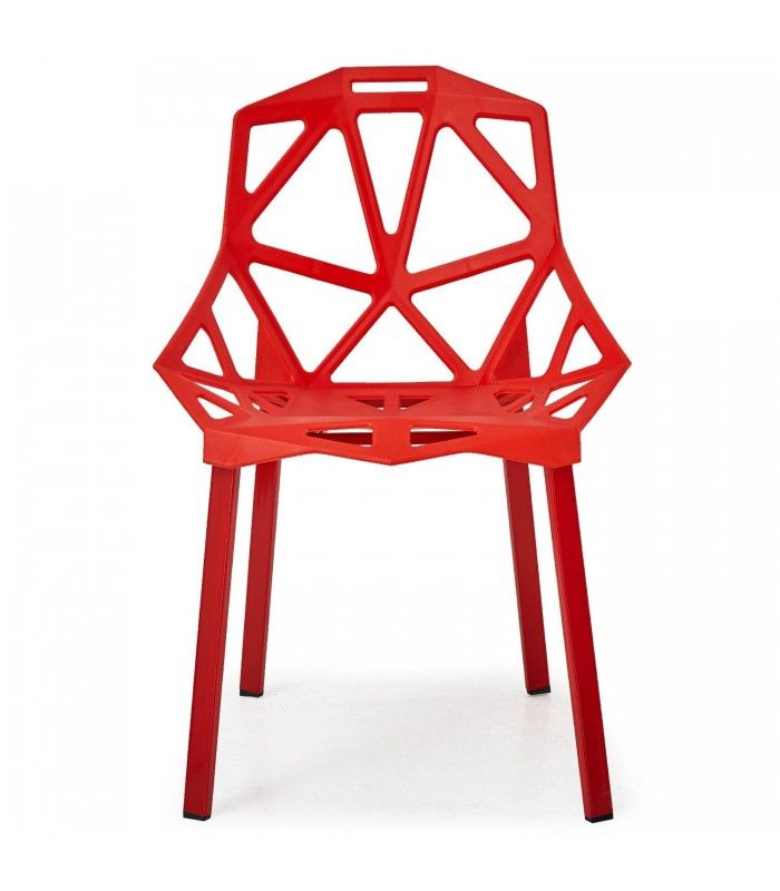 Chaise Design Rouge Spider