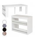 Table Console extensible avec rangement en bois WELLY -