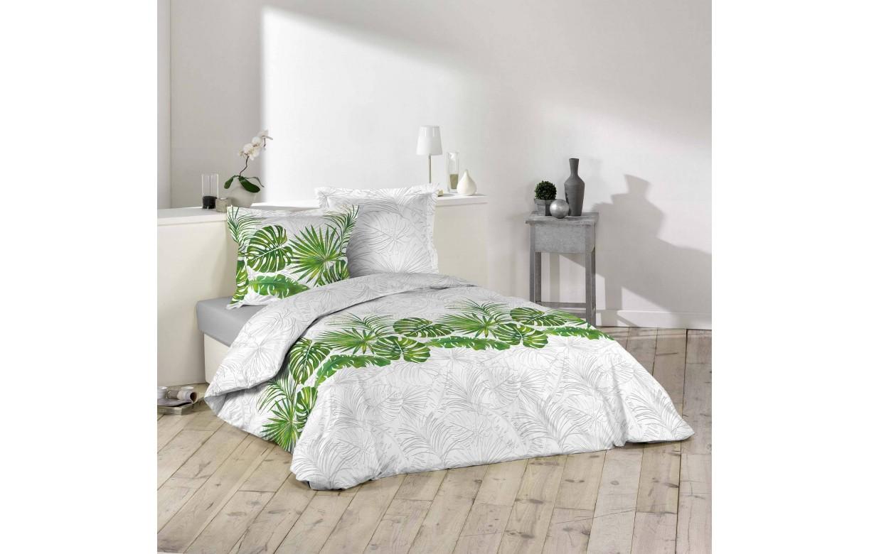 housse de couette 220 x 240 cm tropic feuilles exotiques. Black Bedroom Furniture Sets. Home Design Ideas