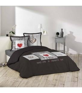Housse de couette 240 x 260 cm Coeur romantique -