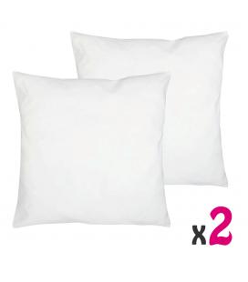Oreiller standard 60x60 cm 100% polyester - Lot de 2