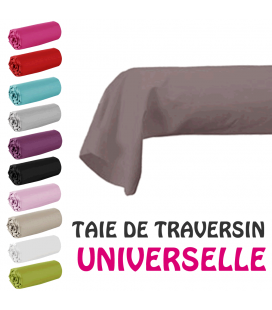 Taie de traversin universelle 45x185cm - 11 coloris