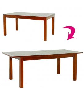 Table bois massif laquée avec rallonge 160 à 200cm Lora