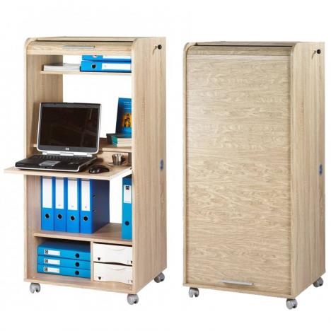 Armoire informatique mobile à rideau Orga -