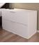 Petite commode chevet 2 tiroirs blanche 80 cm Moja