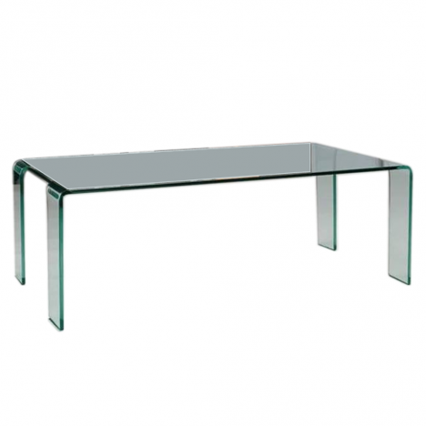Table basse fixe en verre transparent VIVIAL -