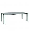 Table basse en verre transparent rectangle VIVIAL