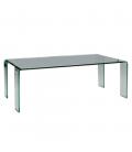 Table basse fixe en verre transparent VIVIAL -