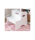 Rangement chambre enfant escabeau en bois blanc ou rose -
