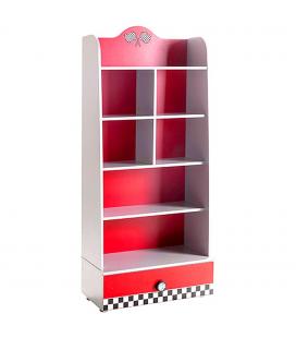 Commode 3 tiroirs enfant rouge voiture course