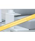 Salon de jardin haut de gamme en aluminium blanc Sacra -