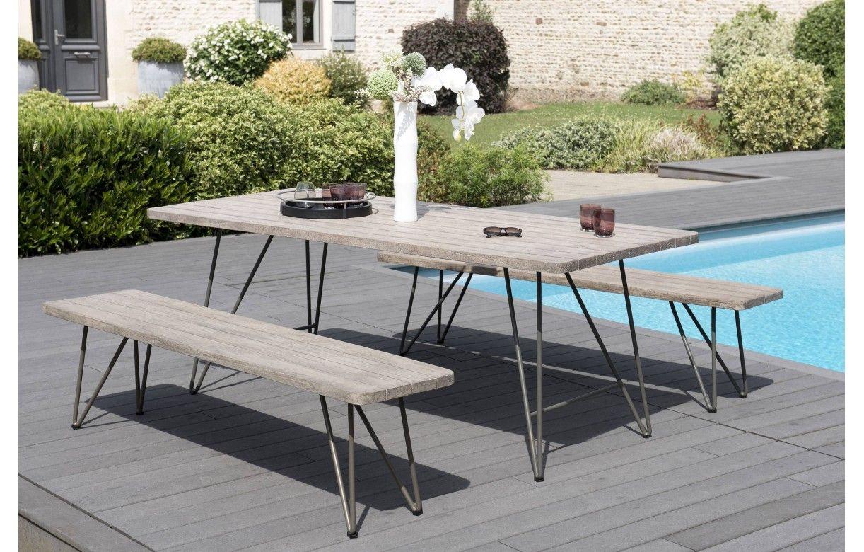 Ensemble Table 2 Bancs En Bois Massif Design Bursa Decome Store