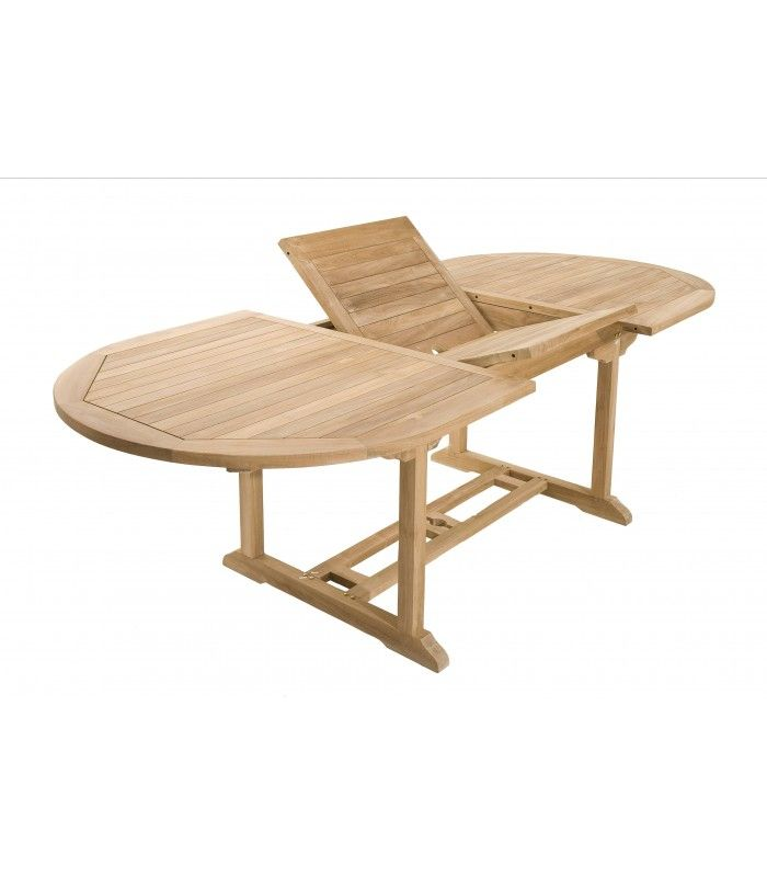 Table Ovale Extensible Bois Massif 180 A 240cm Pereira Decome Store