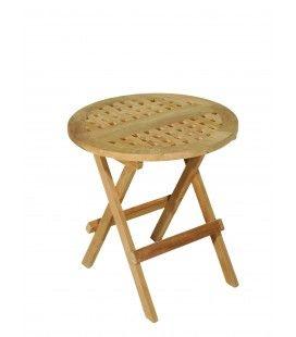 Table ronde de pique nique en bois massif clair PEREIRA