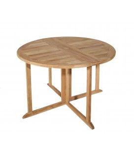 Table de jardin pliable gain de place en bois massif PEREIRA