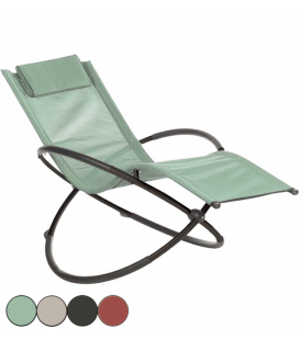 Transat rocking chair de jardin 4 coloris COBAN