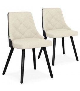 Lot de 2 chaise scandinaves bicolores en tissu Lilax