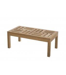 Table basse extérieur 100 x 50 cm bois massif