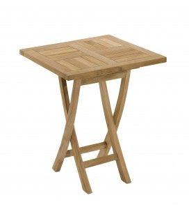 Table carrée pliante 60 x 60 bois massif extérieur