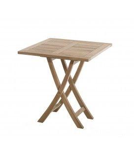 Table basse extérieur carrée pliante 70 x 70 cm