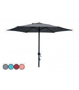 Parasol en acier droit à manivelle diamètre 2m