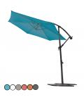 Grand parasol rotatif en aluminium et toile - 6 coloris