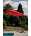 Grand parasol déporté 3x2 m avec pied en croix métal