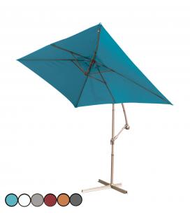 Grand parasol déporté 3x2 m avec toile orientable