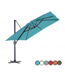 Parasol déporté en métal et toile rotation 360°
