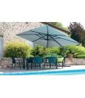 Grand parasol de 3x4 m rotation 360° toile imperméable