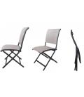 Ensemble repas extérieur avec table et chaises pliantes