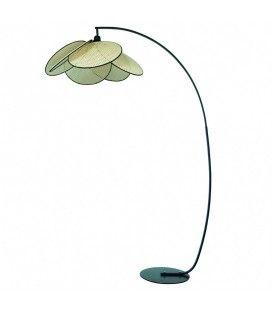 Lampadaire design avec cannage style rotin HANOI -