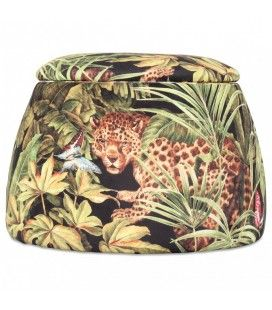 Tabouret coffre forme dôme design jungle