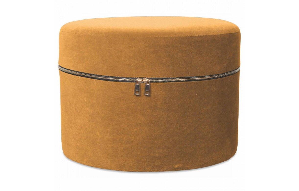 Style Ethnique Coloris NOIR et BLANC Tabouret pouf rond stable et robuste