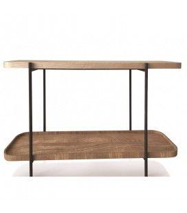 Console design moderne en bois et métal -