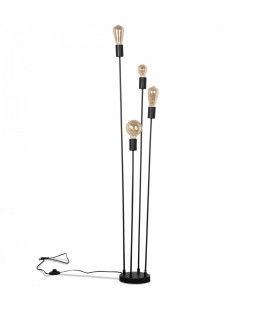 Lampadaire design industriel 4 ampoules