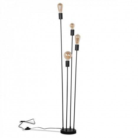Lampadaire design industriel 4 ampoules -