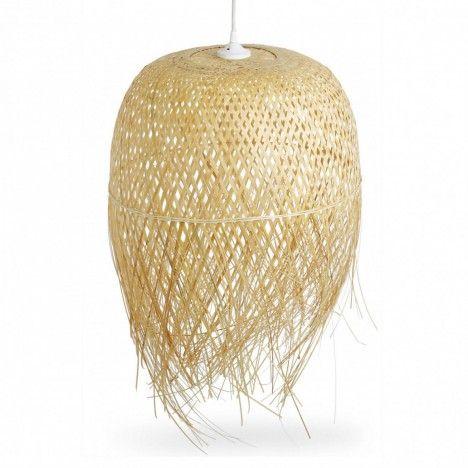 Abat-jour en bambou pour suspension -