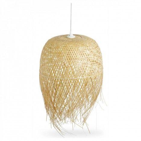 Grand abat-jour en bambou pour suspension -