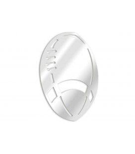 Miroir décoratif ballon de rugby - 3 dimensions