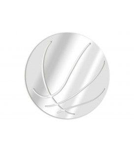 Miroir décoratif ballon de basket - 3 dimensions