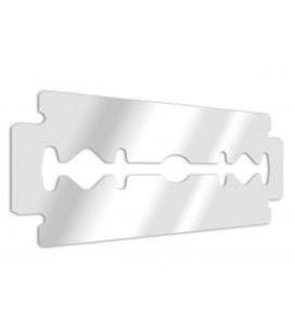 Miroir lame de rasoir militaire - 3 dimensions