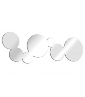 Miroir design bulles allongées - 2 dimensions