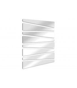Miroir lames trapèze design et moderne - 2 dimensions