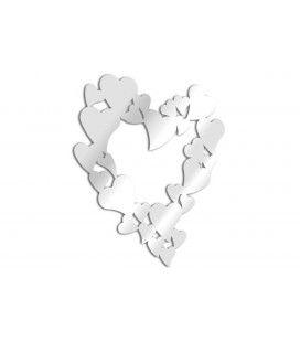 Miroir en forme de coeur design adhésif - 2 dimensions