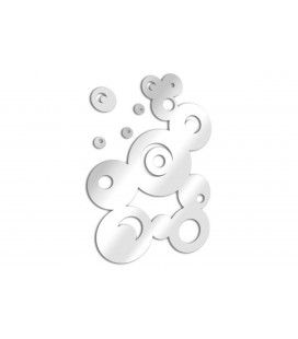 Miroir bulles fresque ronde design - 3 dimensions -