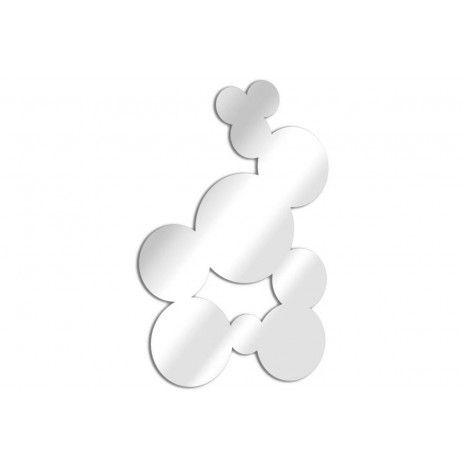 Miroir bulles pleines fresque ronde design - 3 dimensions -